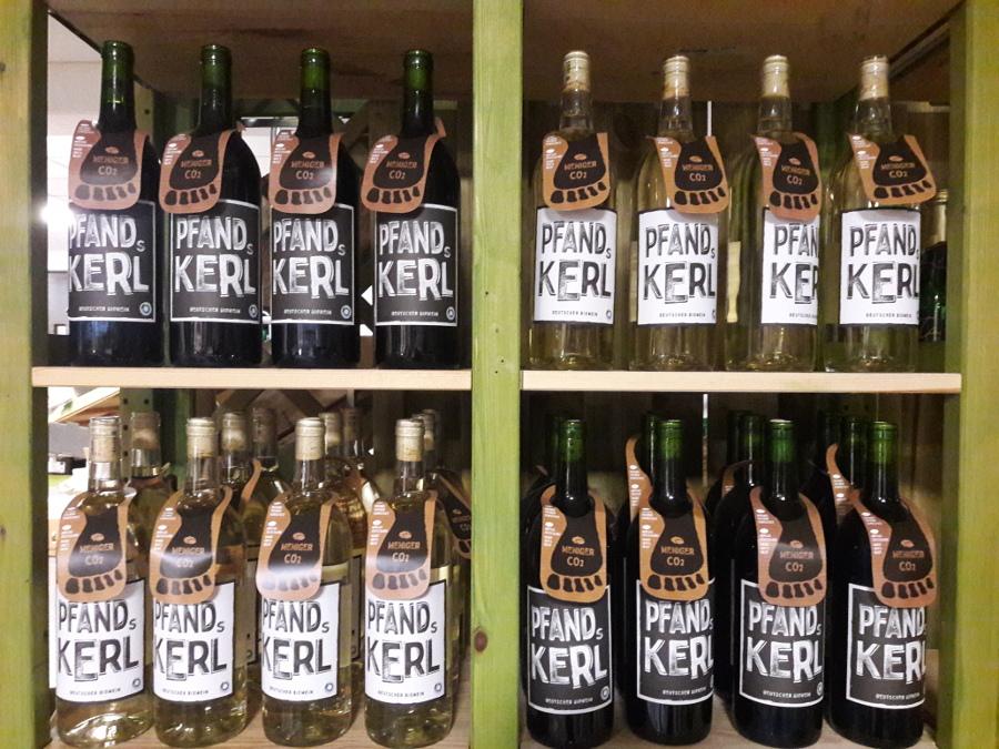 Pfandskerl - ein deutscher Biowein in der 1 ltr-Pfandflasche
