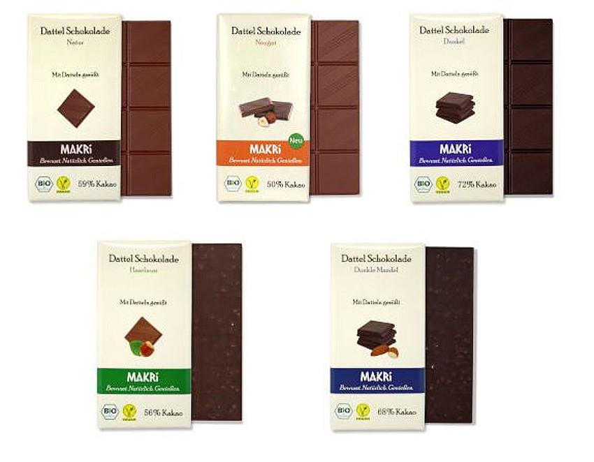 Neu im Sortiment - MAKRI-Schokolade ohne raffinierten Zucker